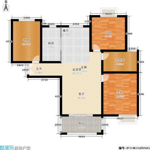 帝奥世伦名郡3室0厅1卫1厨128.00㎡户型图
