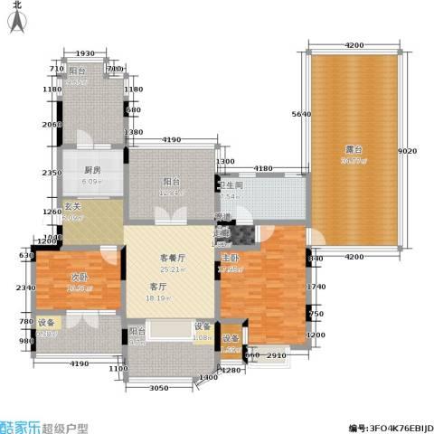 俊城橡树原2室1厅1卫1厨204.00㎡户型图