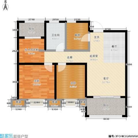 绿地世纪城2室0厅1卫1厨90.00㎡户型图