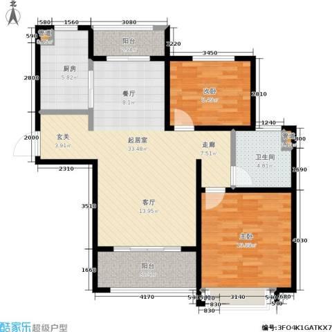 绿地世纪城2室0厅1卫1厨86.00㎡户型图