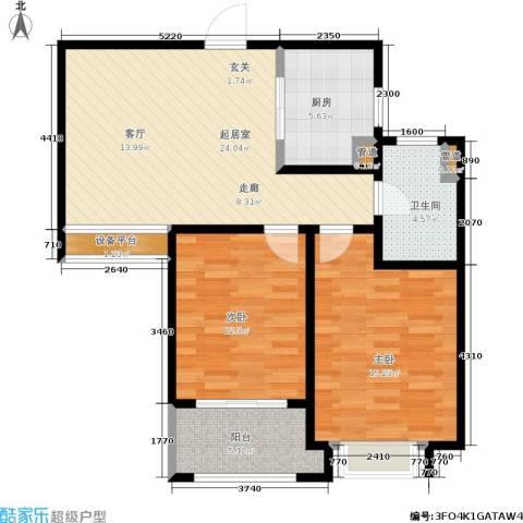 绿地世纪城2室0厅1卫1厨78.00㎡户型图