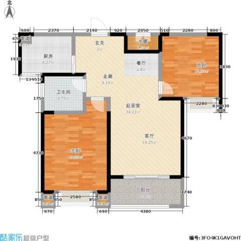 绿地世纪城2室0厅1卫1厨95.00㎡户型图