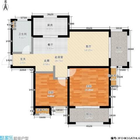 绿地世纪城2室0厅1卫1厨89.00㎡户型图