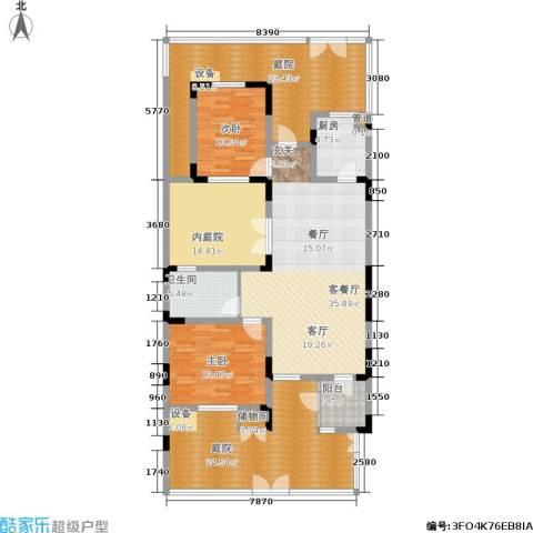 俊城橡树原2室1厅1卫1厨194.00㎡户型图