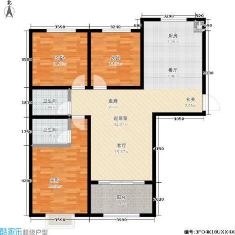 凤城国贸3室0厅2卫0厨130.00㎡户型图