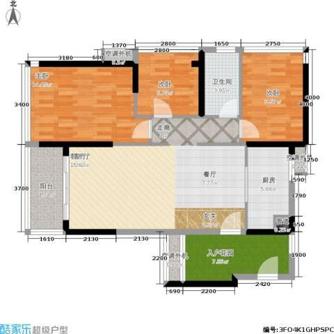 海伦堡・海伦春天3室1厅1卫1厨97.00㎡户型图