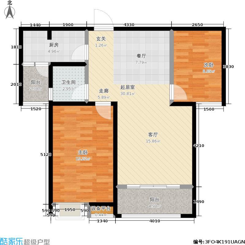 大有公馆一期高层2、3、7号楼g-Q户型