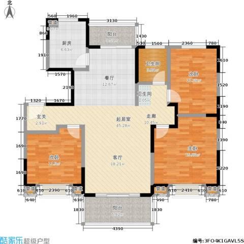 绿地世纪城3室0厅1卫1厨120.00㎡户型图
