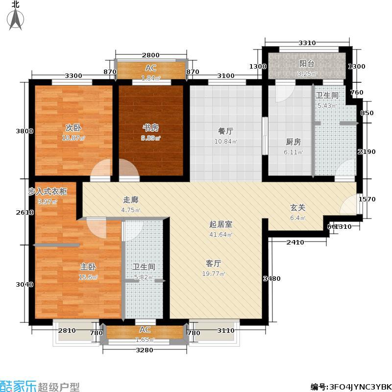 天津津南新城140.00㎡A区3、9、11号楼标准层A01户型