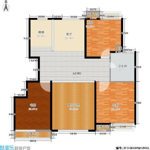 蓝天小区3室0厅1卫0厨208.00㎡户型图