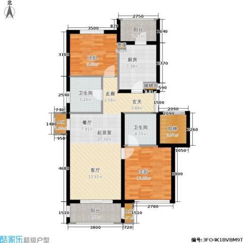 欣豪尚品2室0厅2卫1厨116.00㎡户型图