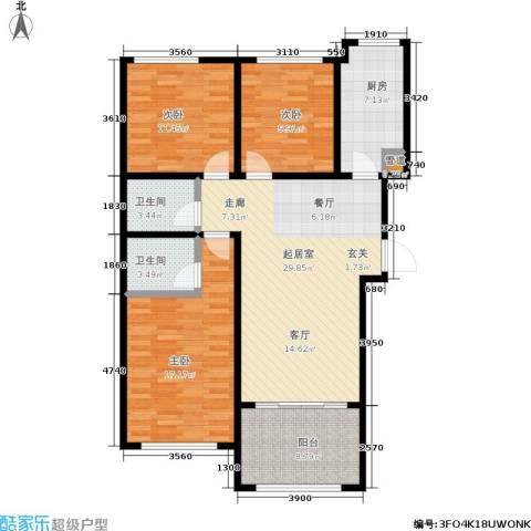 凤城国贸3室0厅2卫1厨129.00㎡户型图