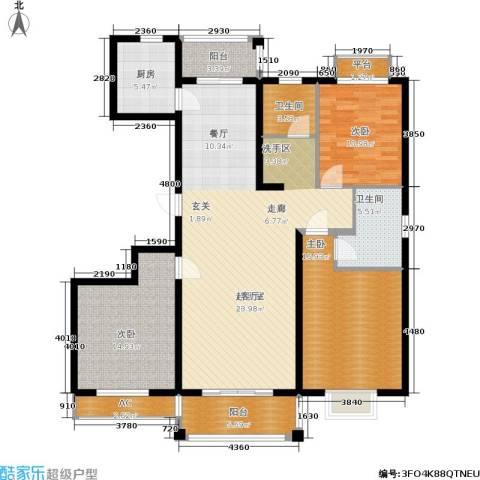 开祥天下城3室0厅2卫1厨133.00㎡户型图