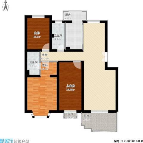 百旺家苑3室1厅2卫1厨166.00㎡户型图