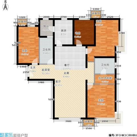 富力新城4室0厅2卫1厨197.00㎡户型图
