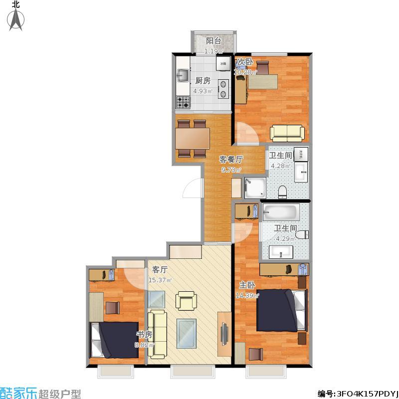 3卧室2厅2卫(已量)