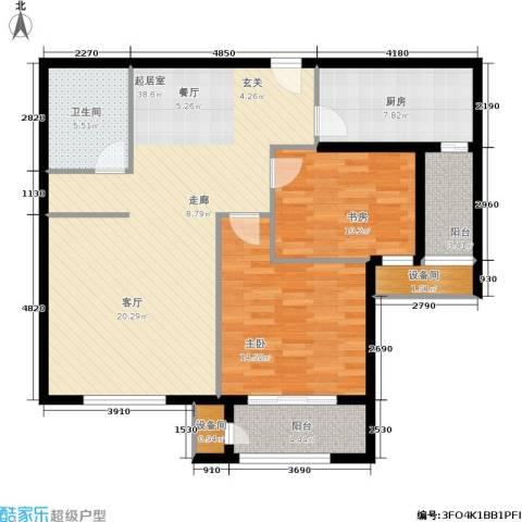 维多利亚广场2室0厅1卫1厨123.00㎡户型图