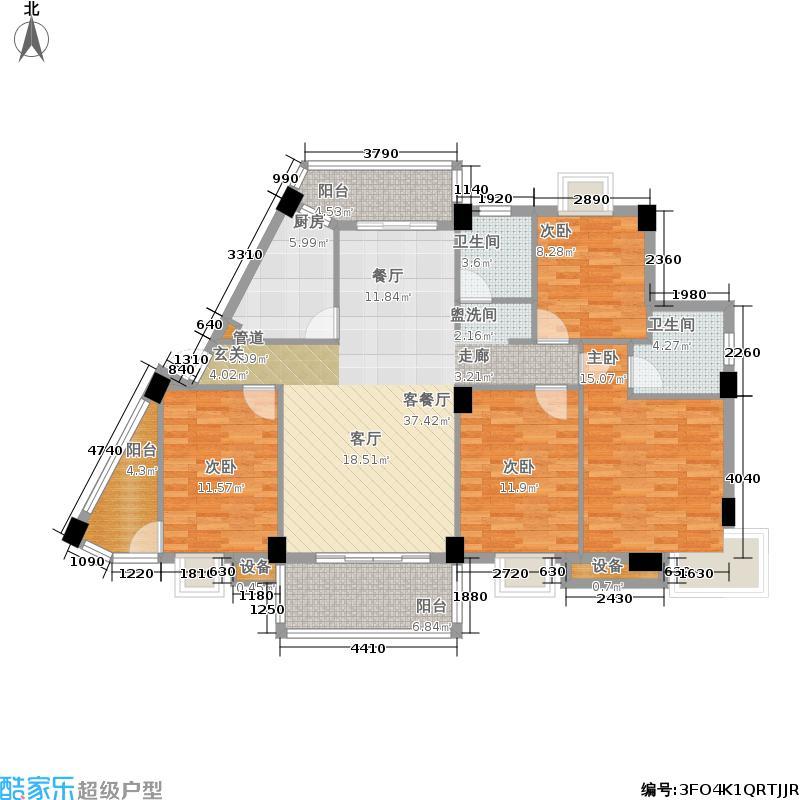 海湘东郡134.08㎡B户型