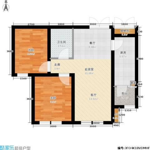 欣豪尚品2室0厅1卫1厨75.00㎡户型图