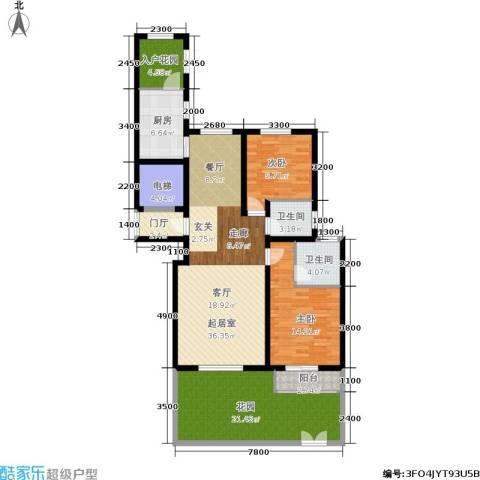 香江东湖印象2室0厅2卫1厨116.00㎡户型图