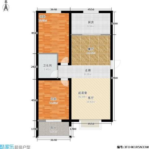 东方红2室0厅1卫1厨130.00㎡户型图