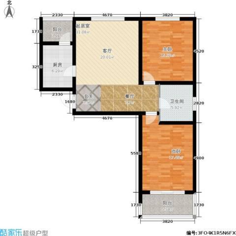 东方红2室0厅1卫1厨120.00㎡户型图