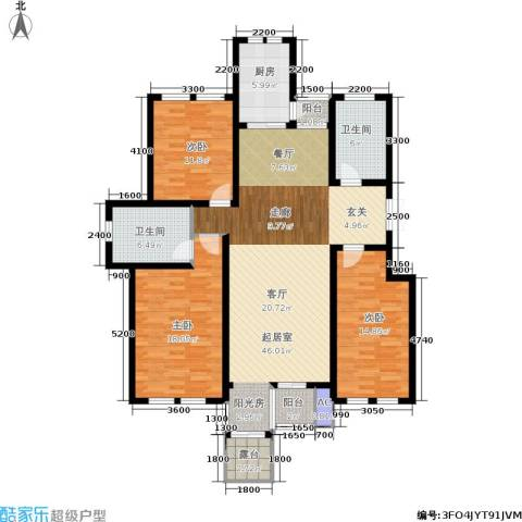 香江东湖印象3室0厅2卫1厨144.00㎡户型图