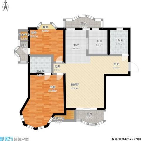 新红厦公寓2室1厅2卫1厨145.00㎡户型图