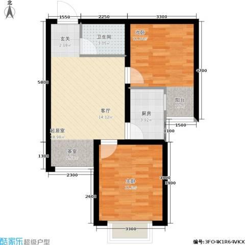 香堤小郡2季 美域2室0厅1卫1厨69.00㎡户型图