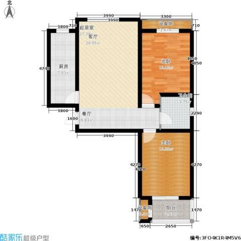 唐城一品2室0厅1卫1厨99.00㎡户型图