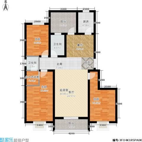 东方红3室0厅2卫1厨152.00㎡户型图