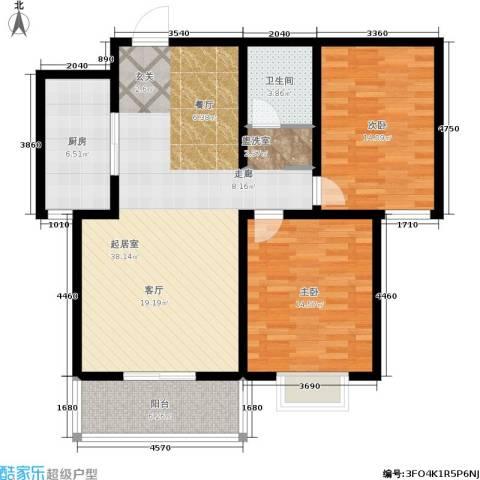 东方红2室0厅1卫1厨119.00㎡户型图