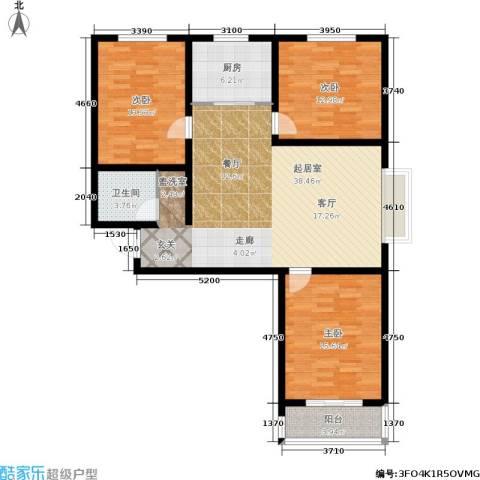 东方红3室0厅1卫1厨134.00㎡户型图