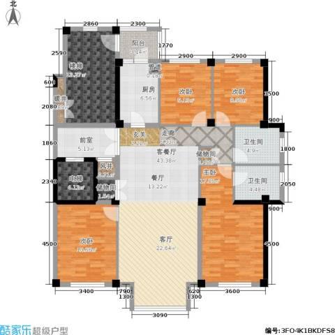 马德里皇家水岸4室1厅2卫1厨196.00㎡户型图