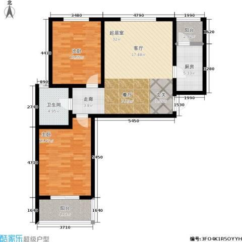 东方红2室0厅1卫1厨114.00㎡户型图
