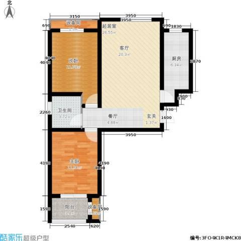 唐城一品2室0厅1卫1厨95.00㎡户型图