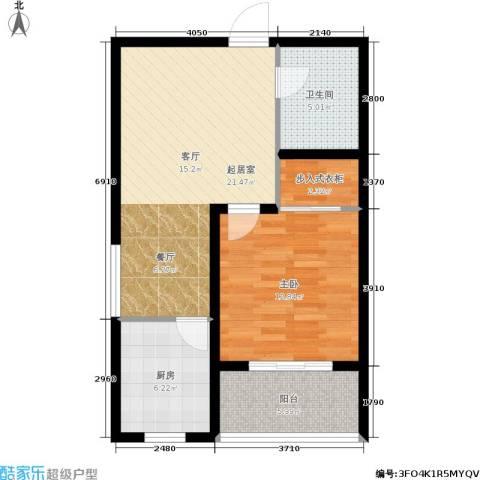 东方红1室0厅1卫1厨76.00㎡户型图