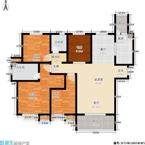 御景水城4室0厅2卫1厨164.00㎡户型图