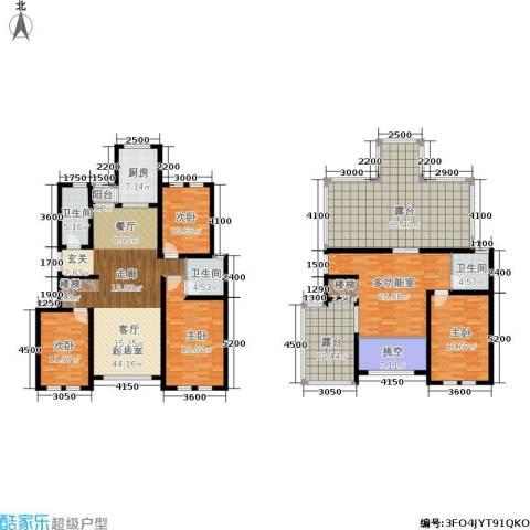 香江东湖印象4室0厅3卫1厨205.98㎡户型图