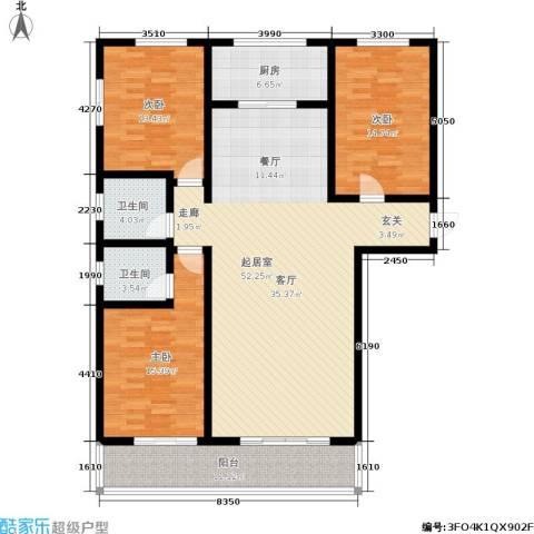 翠堤春晓3室0厅2卫1厨172.00㎡户型图