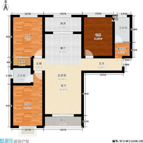 翠堤春晓3室0厅2卫1厨135.00㎡户型图