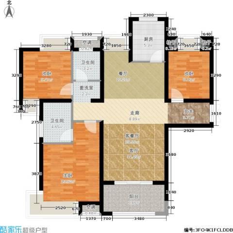 友邦皇家公馆3室1厅2卫1厨136.00㎡户型图