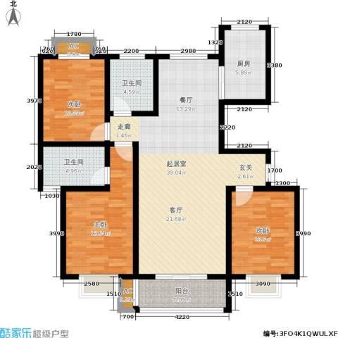 御湖国际3室0厅2卫1厨139.00㎡户型图