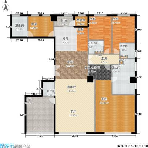 新华文化广场3室1厅5卫0厨293.00㎡户型图