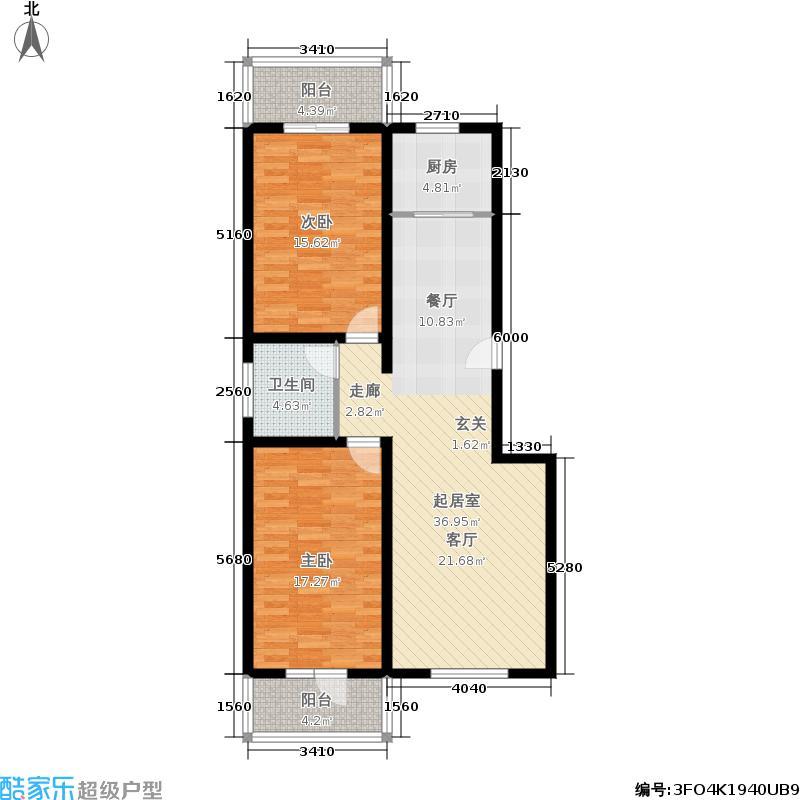尚达豪庭106.00㎡2居户型