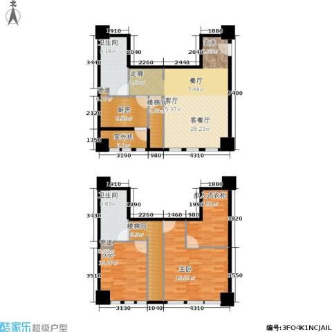 新华文化广场2室1厅2卫1厨133.00㎡户型图