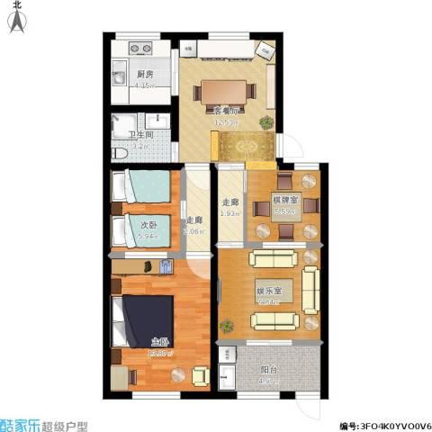 邮电新村2室1厅1卫1厨95.00㎡户型图