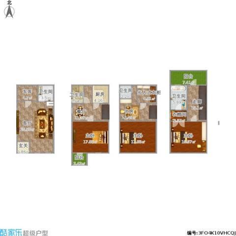 三盛颐景园4室2厅4卫1厨206.00㎡户型图