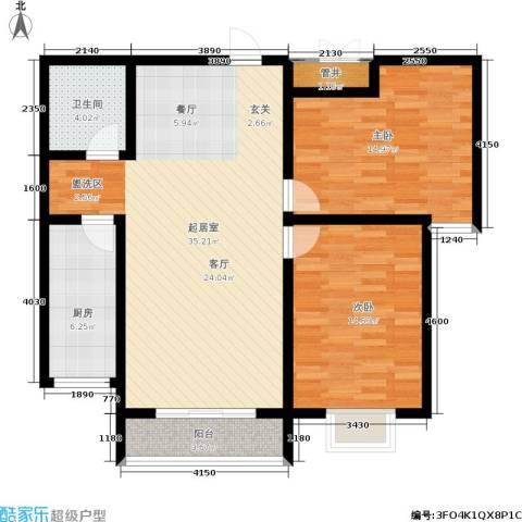 翠堤春晓2室0厅1卫1厨114.00㎡户型图
