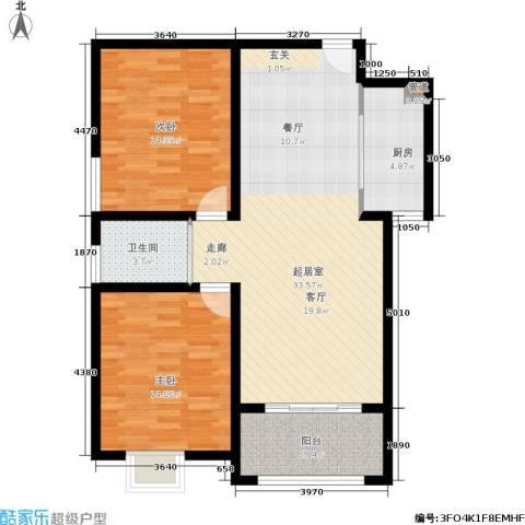 金色家园2室0厅1卫1厨94.00㎡户型图
